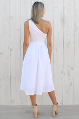 casey dress in white