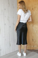 romee midi skirt in black