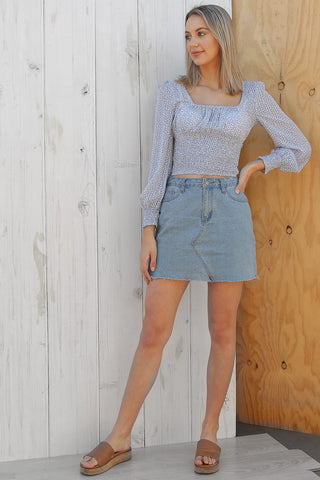 fling top in blue