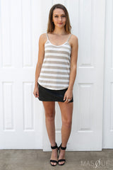 SALE - fawn knit cami in stripe
