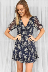 prue mini dress in navy