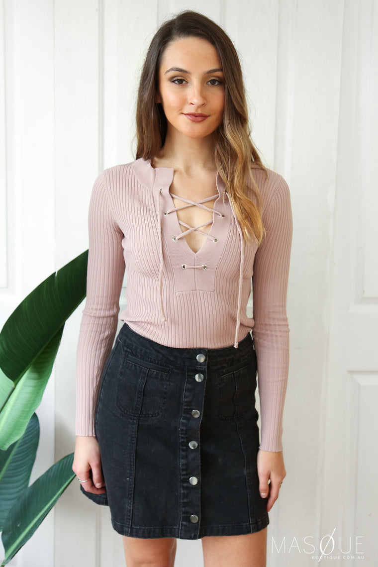 swannie crop in dusty pink