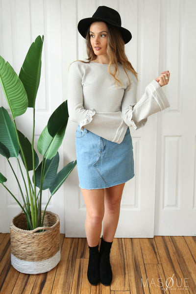 millie top in grey