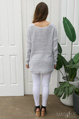demi twist knit in grey