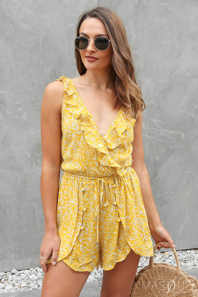 bonita playsuit in mustard