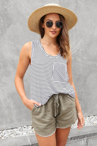 SALE - lucy tank in stripe