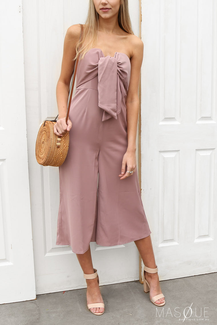 SALE - timeless jumpsuit in dusty pink