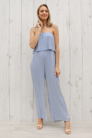 mindful jumpsuit in baby blue