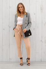martha check blazer