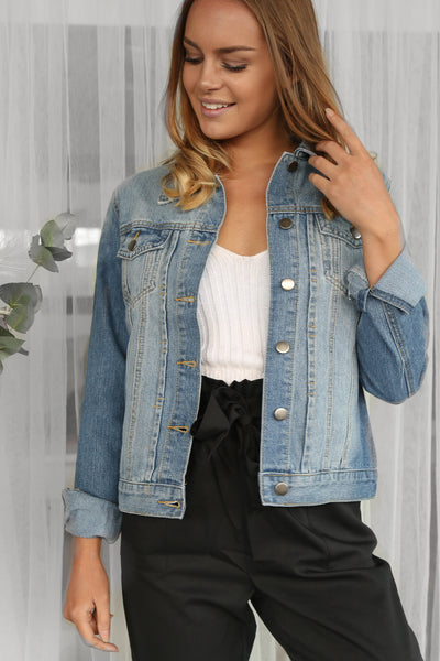 better days denim jacket in blue wash