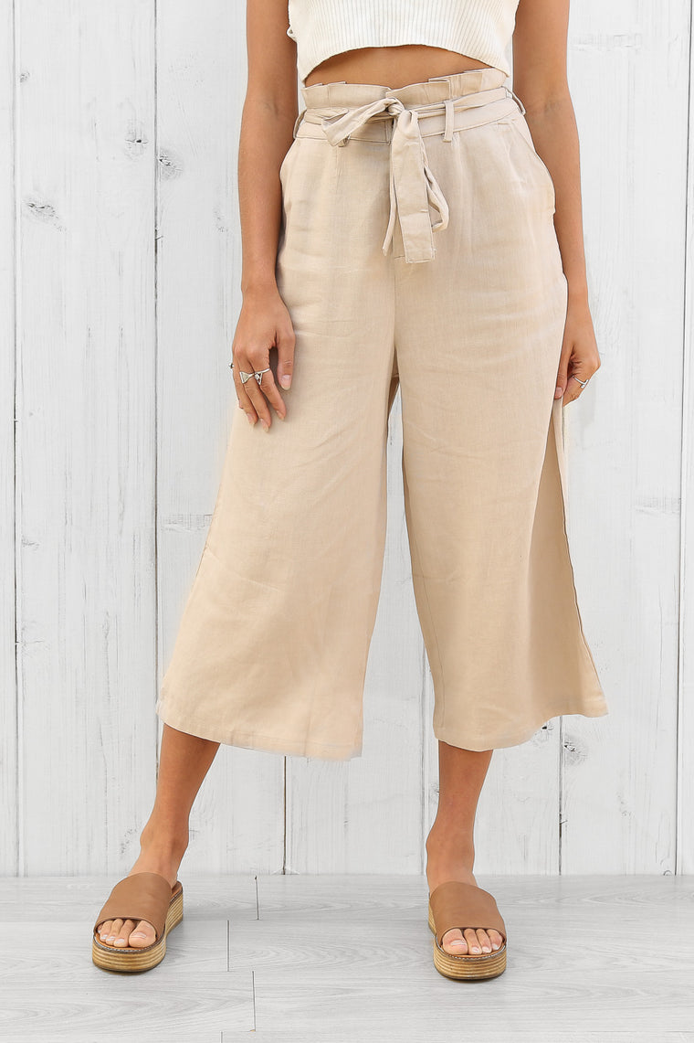 minogue culottes in beige