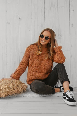hayley knit in rust