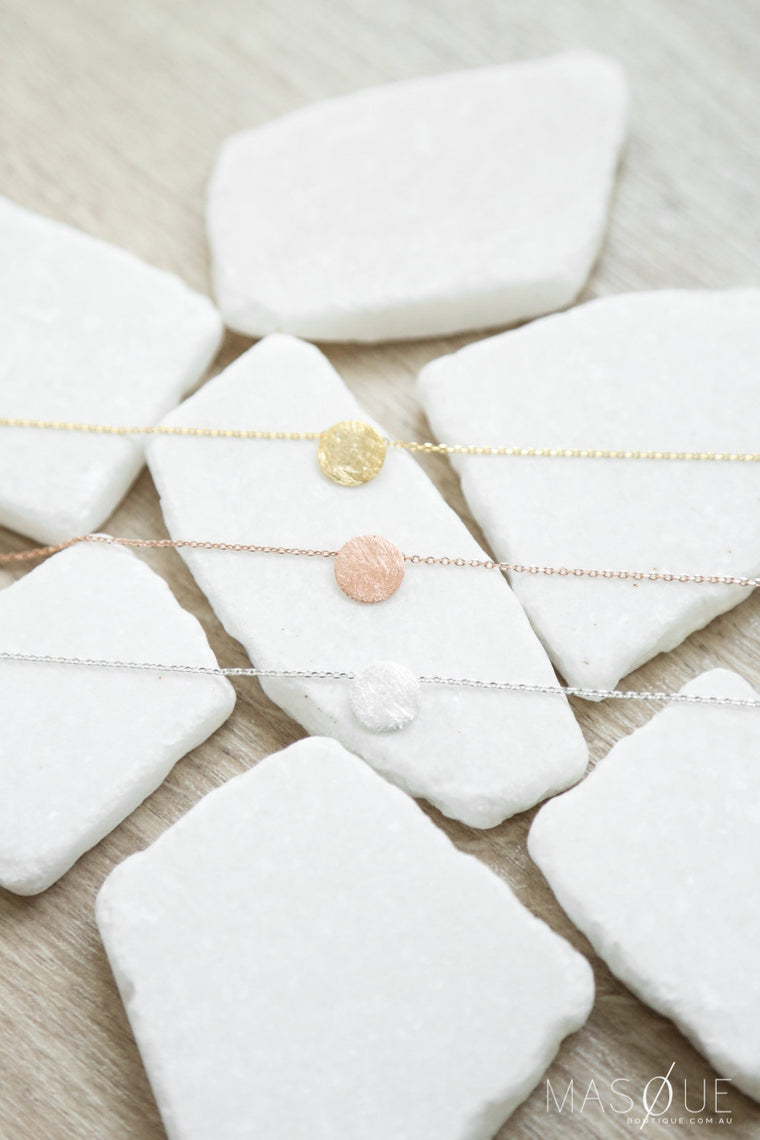 eb circle necklace