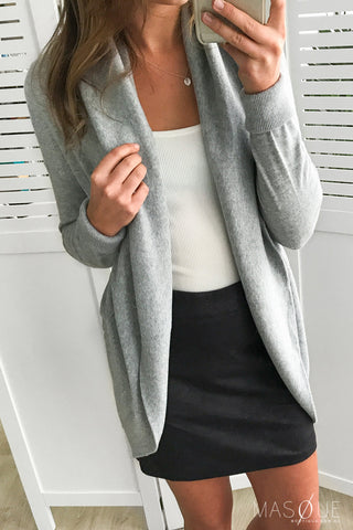 ditto cardi in grey