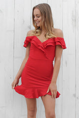 feeling love dress in red