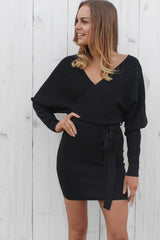 sweet side mini dress in black