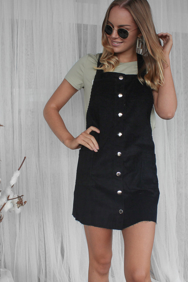 ronny cord overall dress