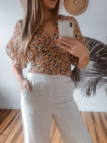 manic top in floral