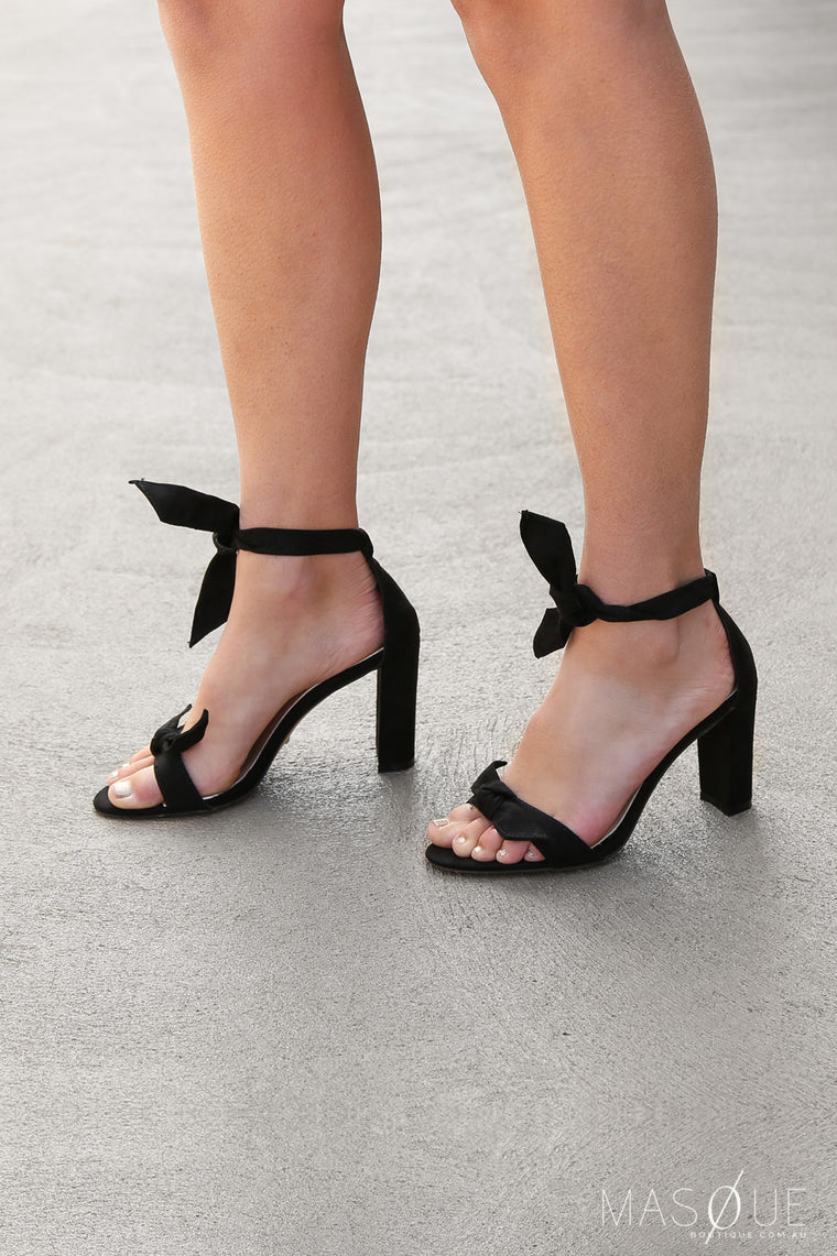 goya heels in black suede