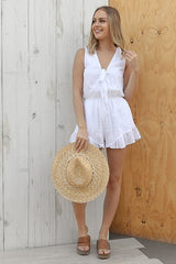 forever playsuit in white