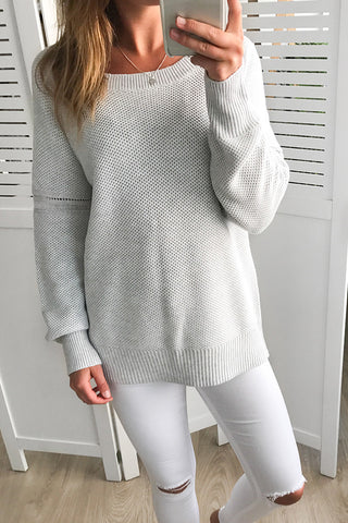 amalita knit in grey