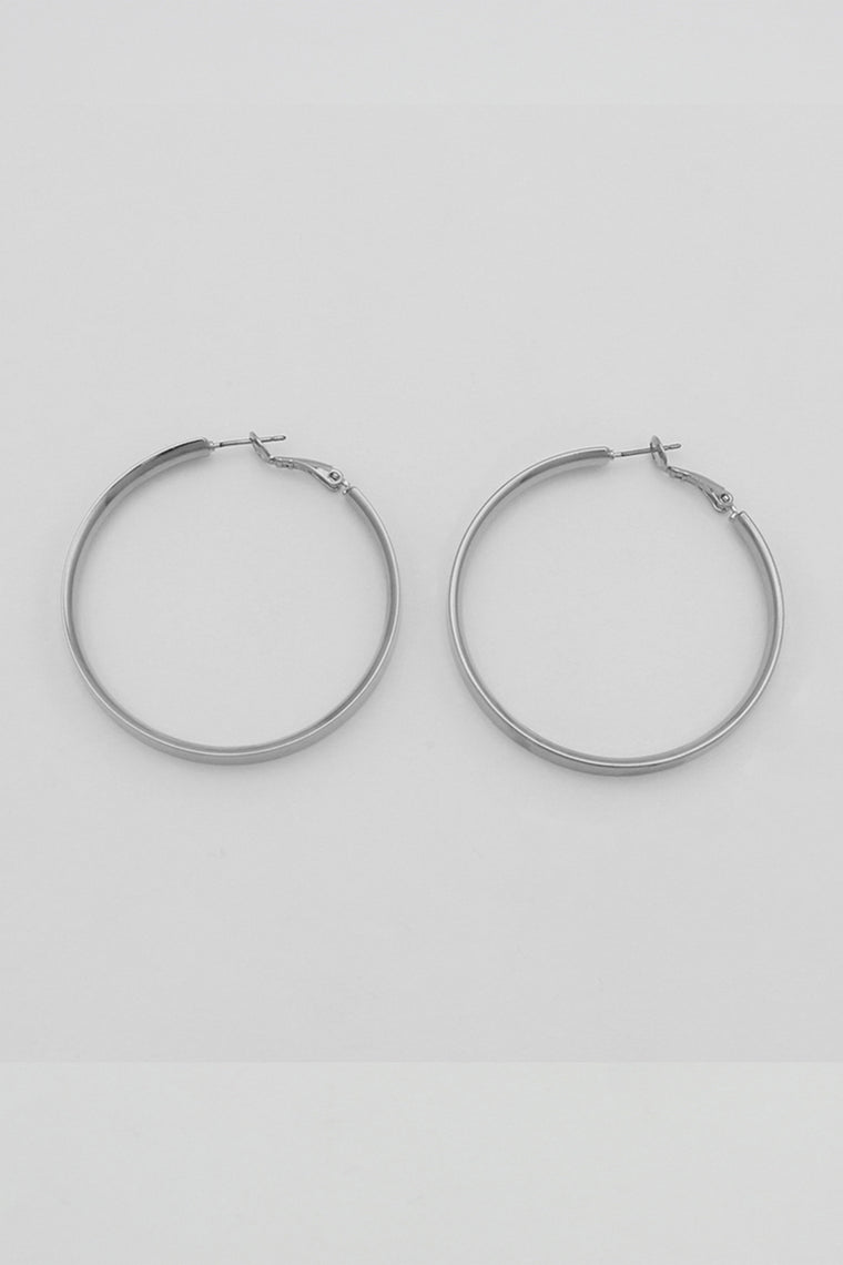 tilly silver hoops