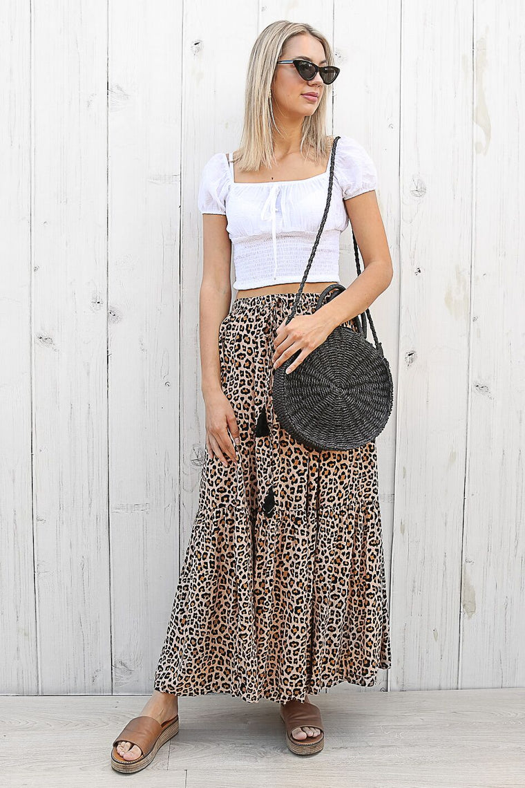 leopard lovers skirt