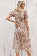 stylish midi dress in blush