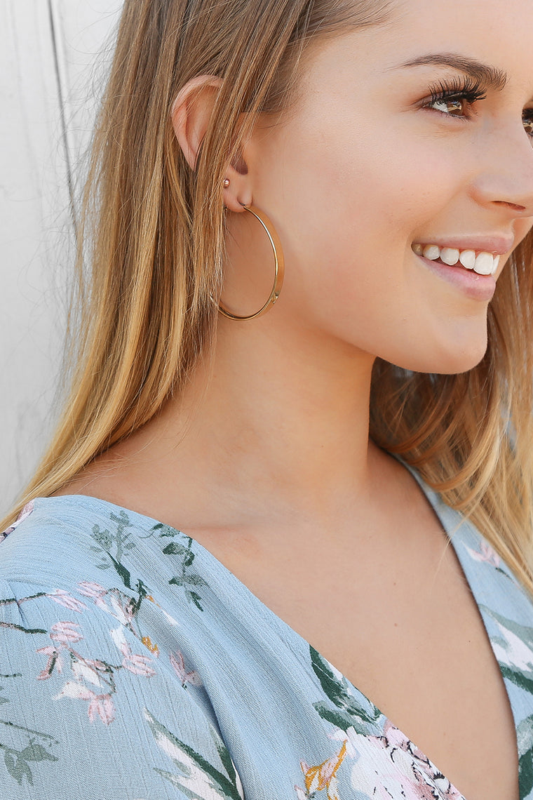tilly gold hoops