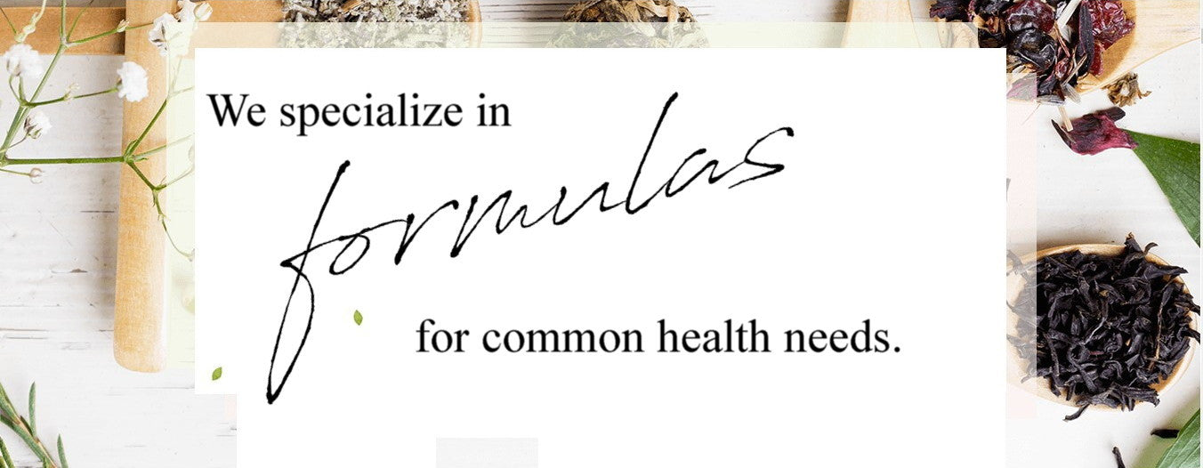 we specialize in formulas for common health needs
