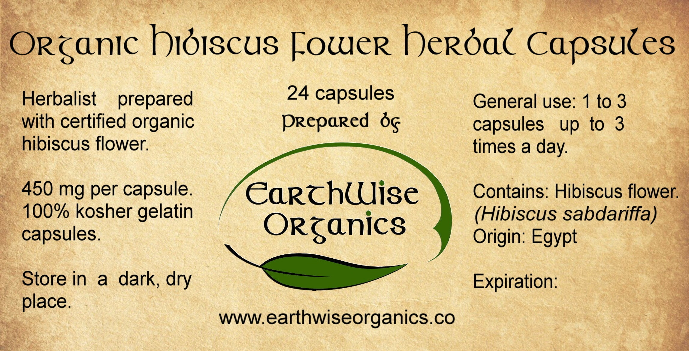hibiscus organic herbal capsules