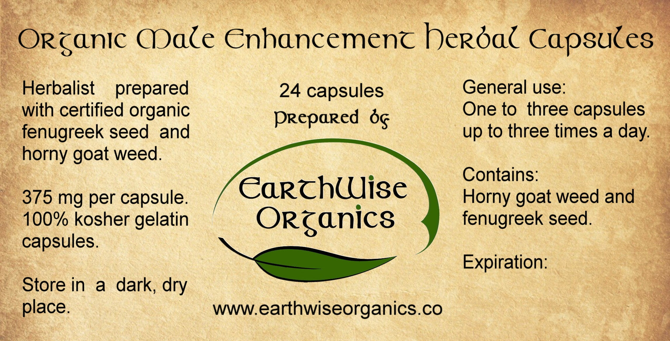 male enhancement organic herbal capsules