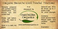 breathe well tincture label