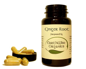 ginger organic herbal capsules