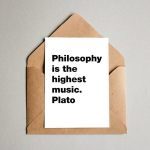 Philosophy is the highest music. Plato Postcard