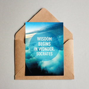 Wisdom begins in wonder. Socrates Postcard