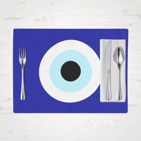 Blue Evil Eye placemats