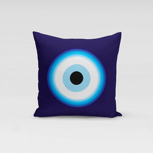 Aegean Blue waves Evil Eye pillow