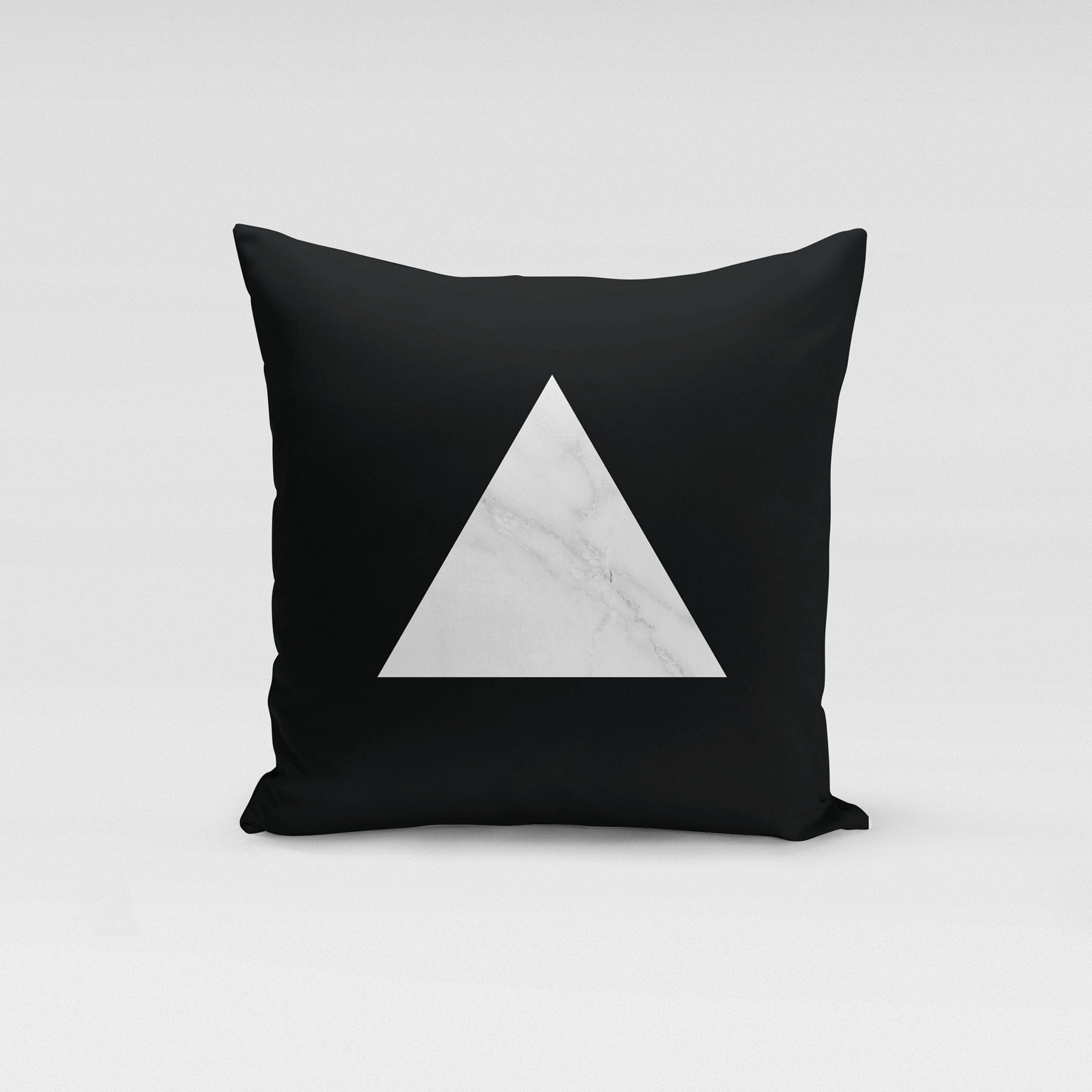 White Triangle Marble Pillow