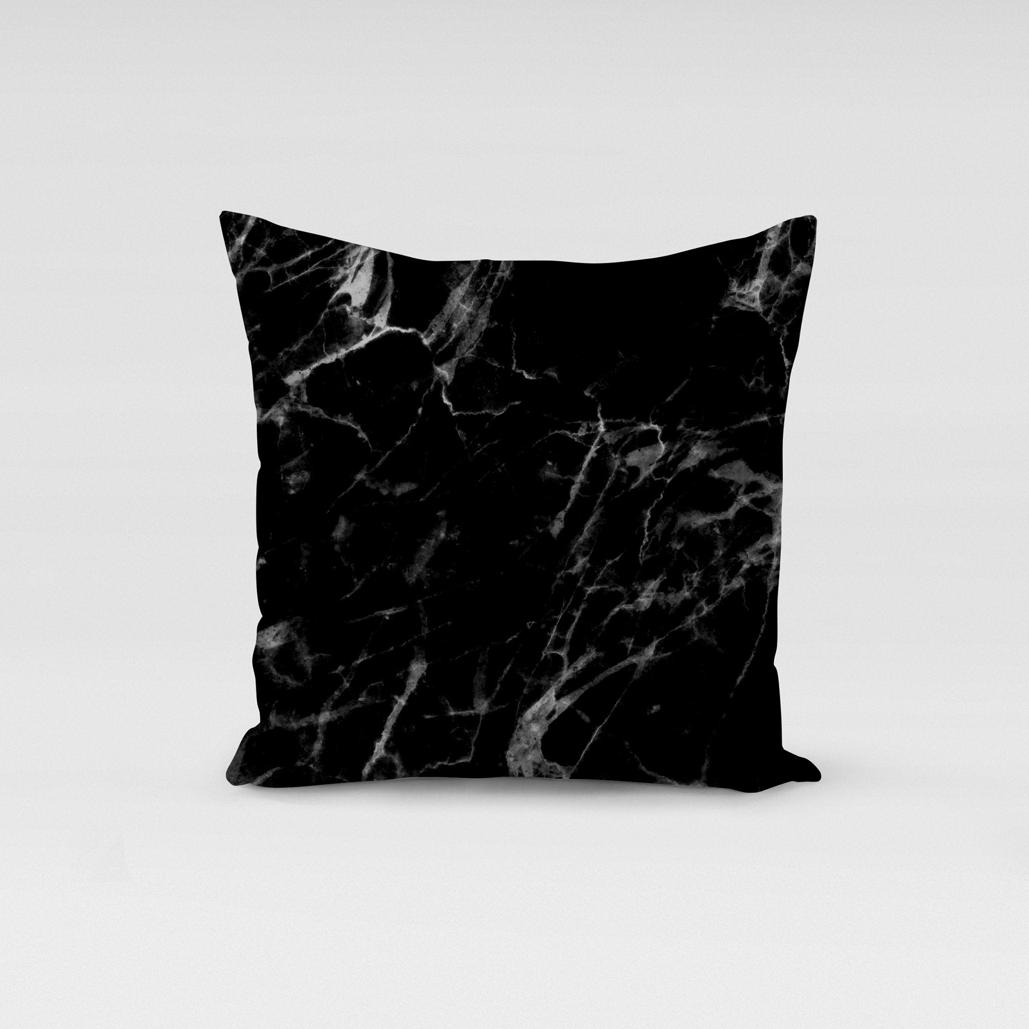 Black Marble Pillow