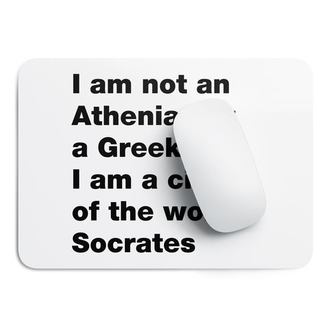 Citizen of the world Socrates mouse pad