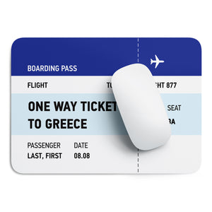 One way ticket mouse pad