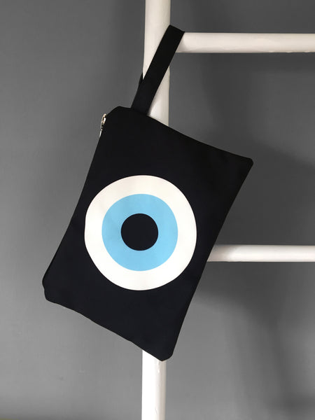 Black Evil Eye Clutch