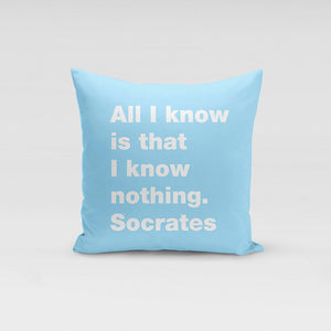 All I know Pillow
