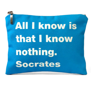 All I know. Socrates bag