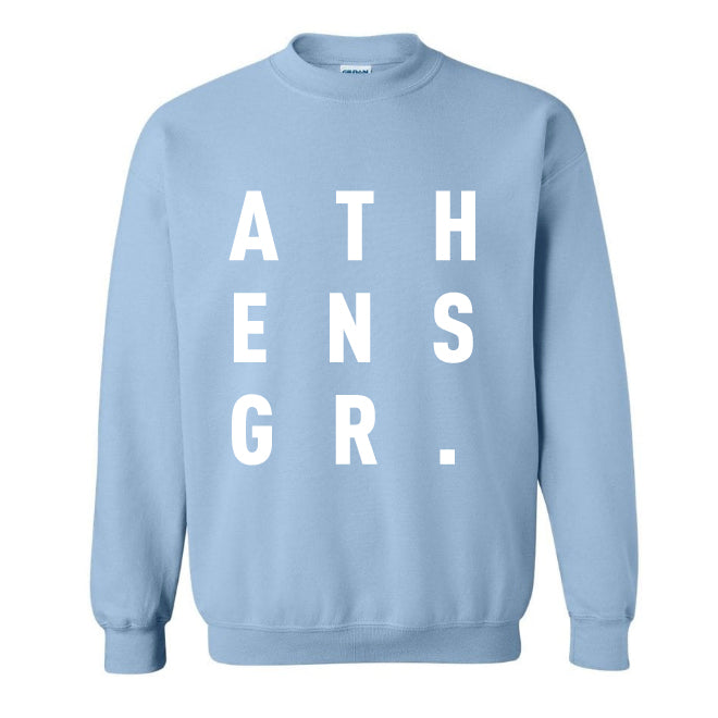 ATHENS.GR light blue sweatshirt