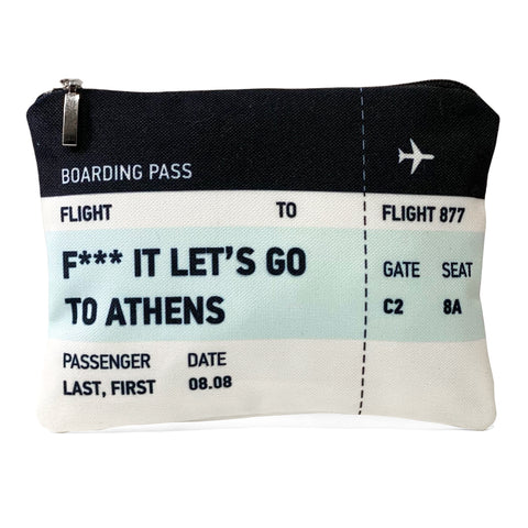 Let's go to Athens ticket bag