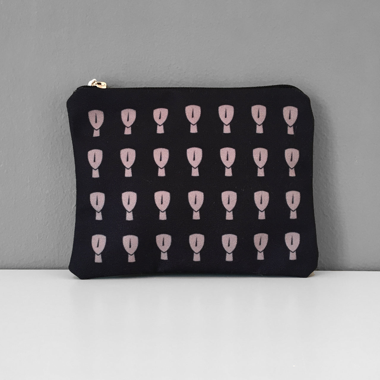 Cycladic Black Beige coin purse