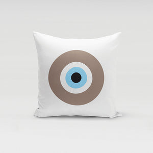 Beige Evil Eye Pillow