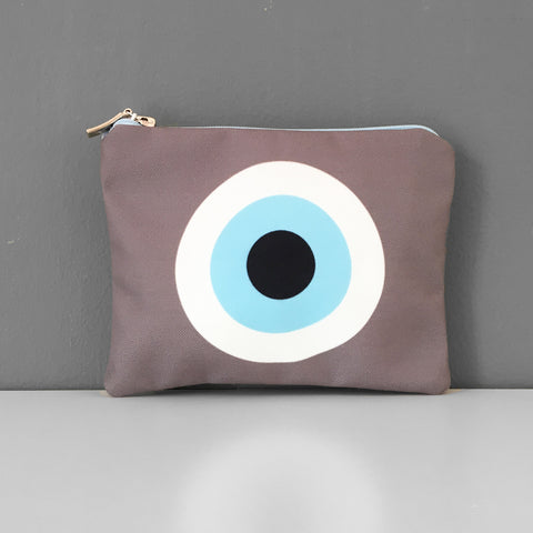Beige eye coin purse